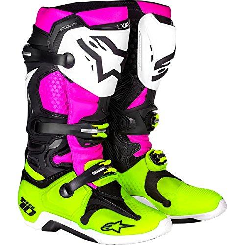 Alpinestars LE Radiant Tech 10 Mens Off-Road Motorcycle Boots - BlackWhitePink  10