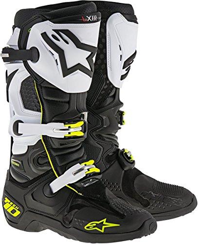 Alpinestars Mens Tech 10 Boots BlackWhiteYellow Size 13