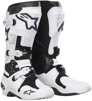 Alpinestars Tech 10 Boots  Distinct Name WhiteBlack Size 9 Gender MensUnisex Primary Color White 201007219