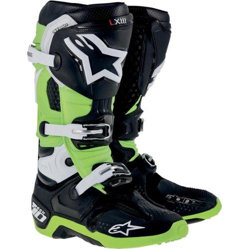 Alpinestars Tech 10 Boots  Primary Color Green Size 9 Distinct Name BlackGreen Gender MensUnisex 2010014169