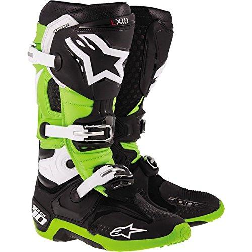 Alpinestars Tech 10 Mens MX Motorcycle Boots - BlackGreen  Size 11