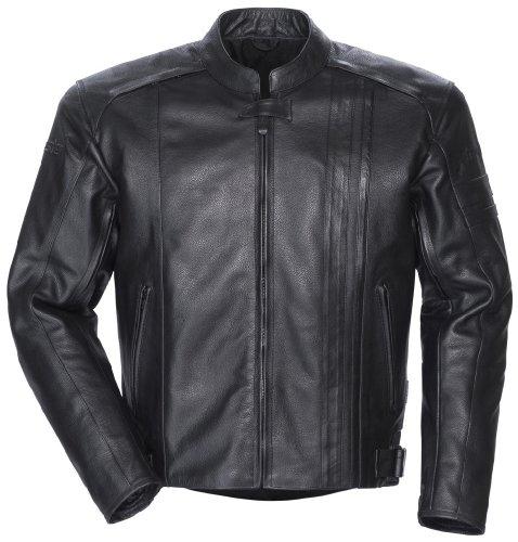 Tourmaster Coaster 3 Leather Motorcycle Jacket Black