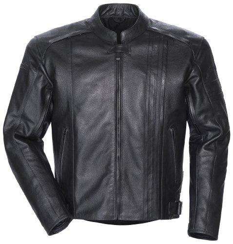 Tourmaster Coaster 3 Men's Leather Motorcycle Jacket (black, Large)