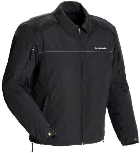 Tourmaster Element Cooling Men's Leather Motorcycle Jacket (black, Medium)