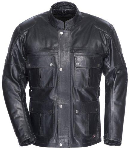 Tourmaster Lawndale Leather Motorcycle Jacket Black