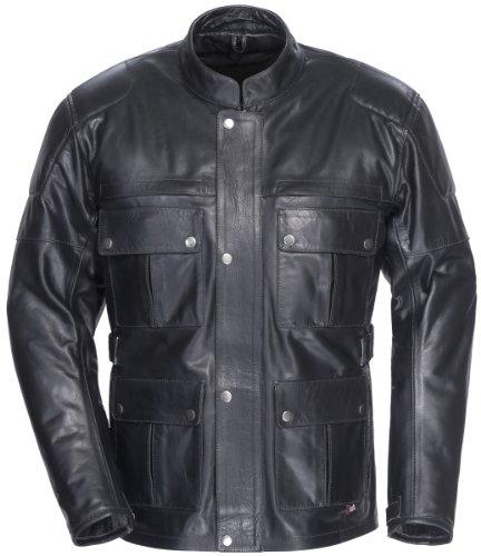 Tourmaster Lawndale Men's Leather Motorcycle Jacket (black, Large)