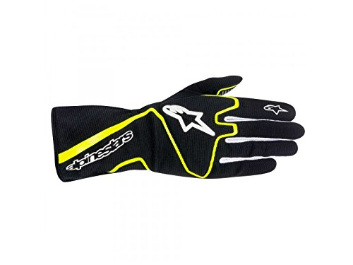 ALPINESTARS TECH 1-K RACE GLOVES - BLACKYELLOW FLUORESCENT - SIZE L