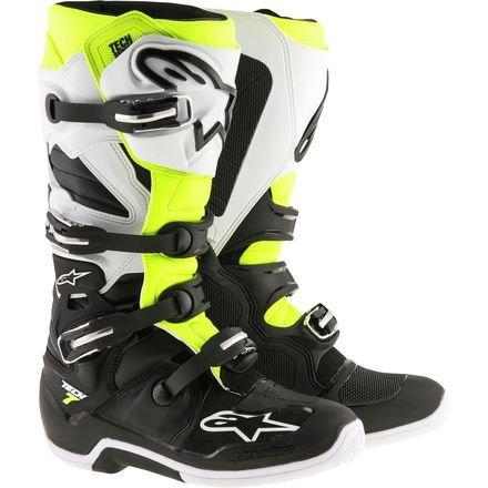 Alpinestars Tech 7 Enduro Motocross Boots - BlackWhiteYellow - 14