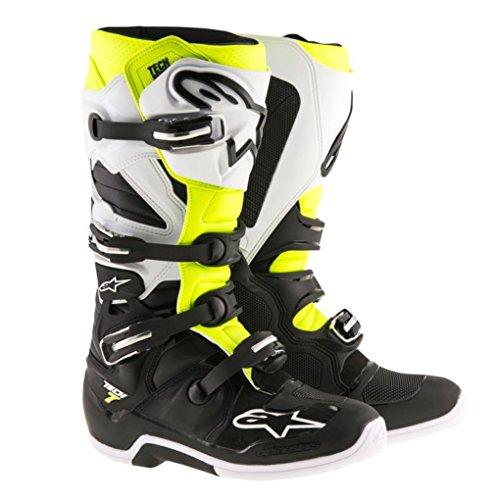 Alpinestars Tech 7 Enduro Motocross Boots - BlackWhiteYellow - 9