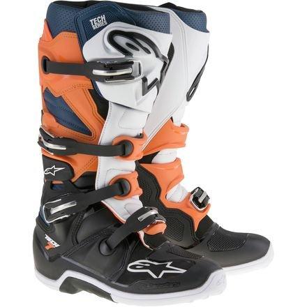 Alpinestars Tech 7 Enduro Motocross Boots - OrangeBlue - 14