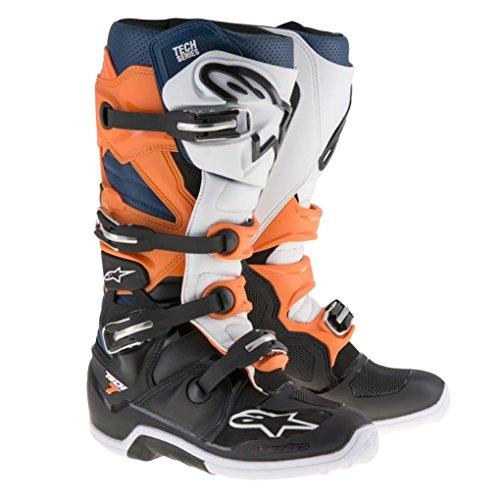 Alpinestars Tech 7 Enduro Motocross Boots - OrangeBlue - 7