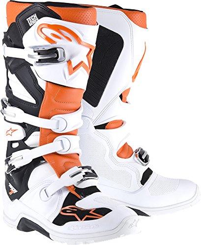 Alpinestars Tech 7 Enduro Boots-WhiteOrange-11