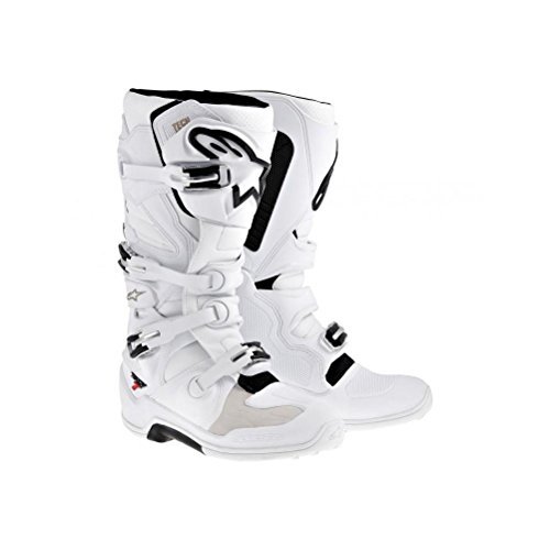 Alpinestars Tech 7 Mens Motocross Motorcycle Boots - White  Size 10