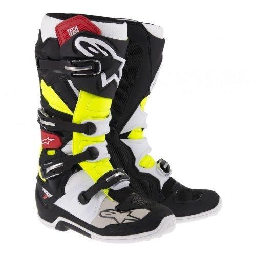 Alpinestars Tech 7 Mens Off-Road Motorcycle Boots - BlackRedYellow  11