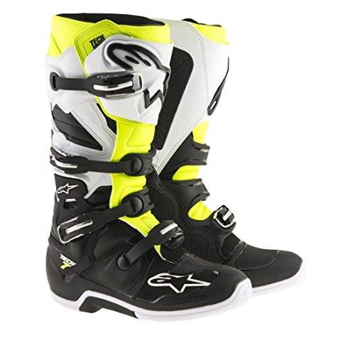 Alpinestars Tech 7 Mens Motocross Boots - BlackWhiteYellow - 10