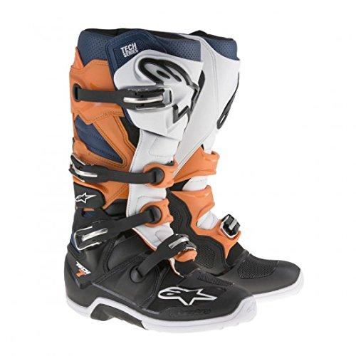 Alpinestars Tech 7 Mens Motocross Boots - OrangeBlue - 12