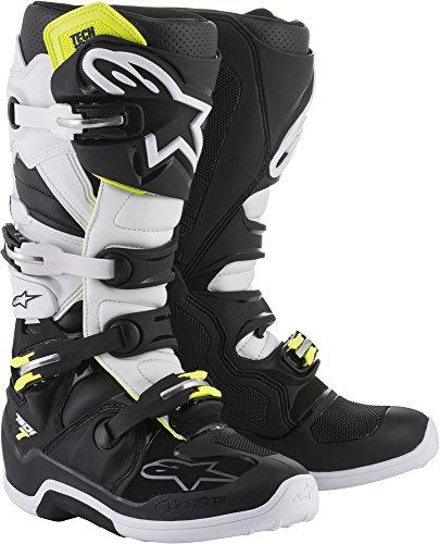 Alpinestars Tech 7 Motocross Off-Road Motorcycle Boots BlackWhite Mens Size 10