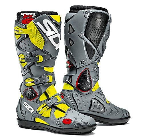 Sidi Crossfire 2 SRS Offroad Boots Yellow Gray US 10