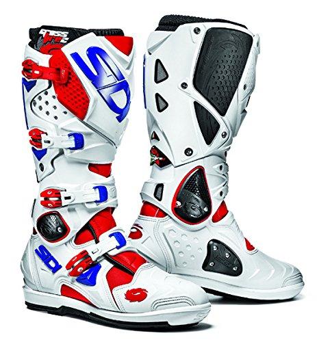 Sidi Crossfire 2 SRS RedWhiteBlue Motorcycle Boots