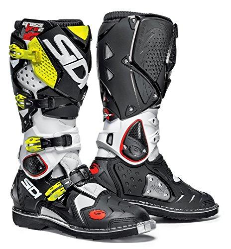 Sidi Crossfire 2 TA Offroad Boots White Black Yellow US 10