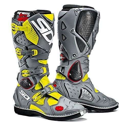 Sidi Crossfire 2 TA Offroad Boots Yellow Gray US 11