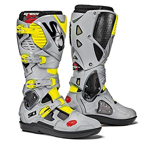 Sidi Crossfire 3 SRS Offroad Boots Black Gray Yellow EU 42  US 85