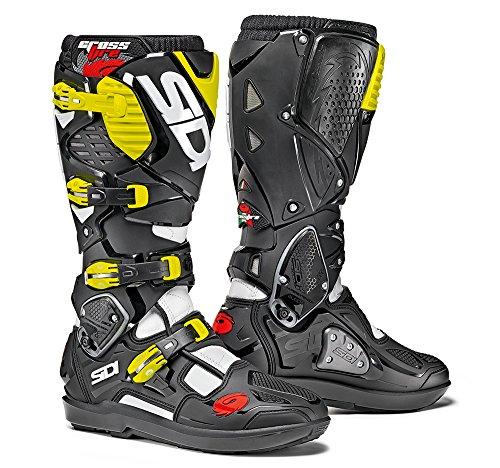 Sidi Crossfire 3 SRS Offroad Boots White Black Yellow EU 43  US 95