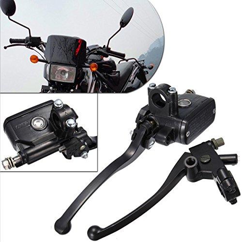 PanelTech Universal Motorcycle 78 22mm Handlebar Brake Master Cylinder Clutch Lever Left Right Set