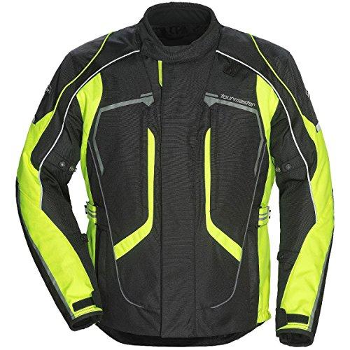 Tour Master Advanced Mens Textile Sports Bike Racing Motorcycle Jacket - BlackHi-Viz  LargeTall