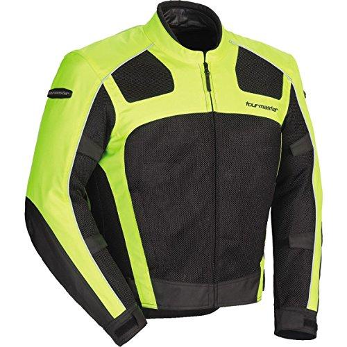 Tour Master Draft Air Series 3 Mens Textile Sports Bike Racing Motorcycle Jacket - Hi-VizBlack  X-Large