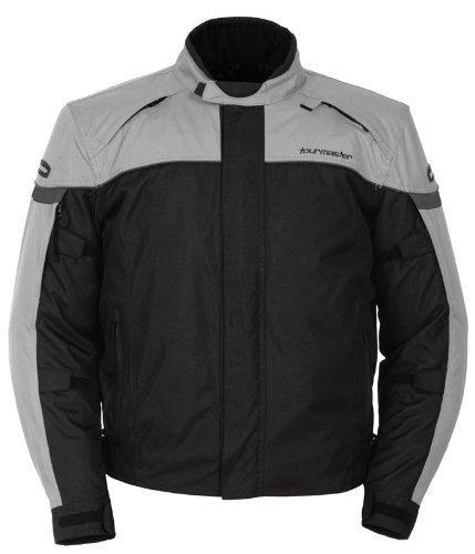 Tour Master Jett Series 3 Mens Textile Sports Bike Motorcycle Jacket - SilverBlack  2X-Large