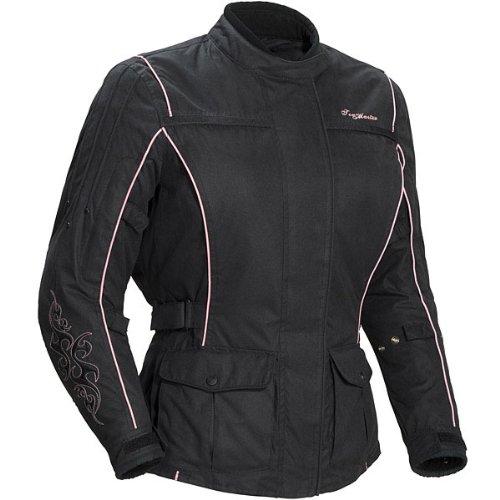 Tour Master Motive Womens Textile Cruiser Motorcycle Jacket - BlackPink  Medium