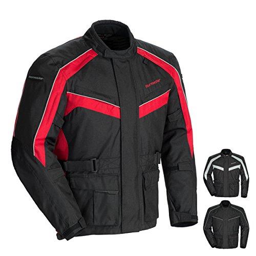 Tour Master Saber 40 Mens Textile Motorcycle Jacket - RedBlack  Large