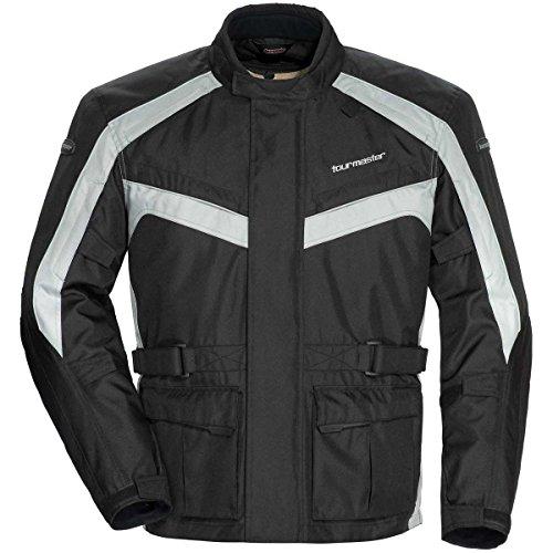 Tour Master Saber 40 Mens Textile Motorcycle Jacket - SilverBlack  Medium