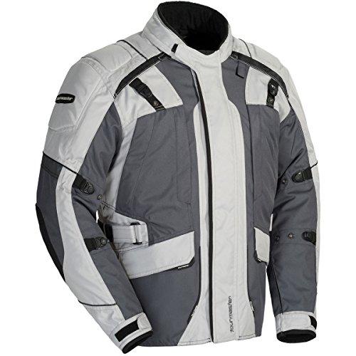 Tour Master Transition Series 4 Mens Textile Sports Bike Racing Motorcycle Jacket - Light GreyGun Metal  2X-Large