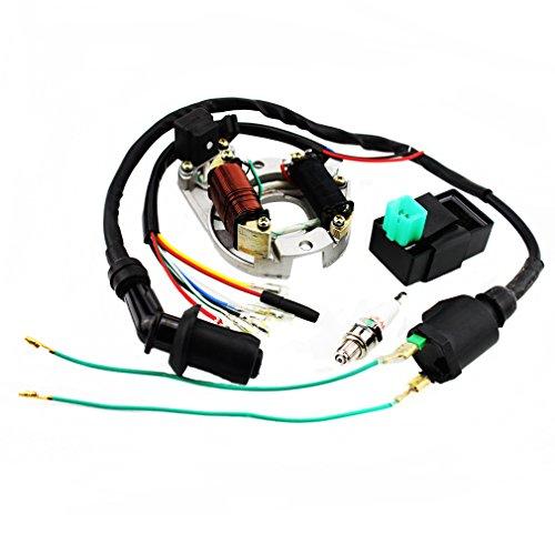 GOOFIT Ignition Rebuild Kit for 50cc 70cc 90cc 110cc 125cc ATV Stator CDI Coil Plug