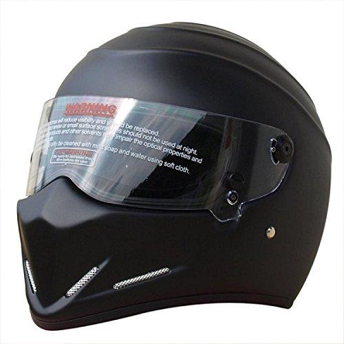 CRG Sports ATV Motocross Motorcycle Scooter Full-Face Fiberglass Helmet DOT Certified ATV-4 Matte Black Size Small