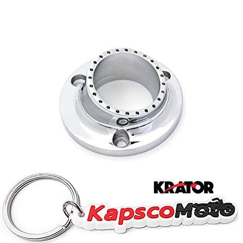 Krator Yamaha Bruin 350 Grizzly 660 350 Kodiak 400  450 Rhino 450 660 Wolverine 350  450 ATV UTV Exhaust Tip Muffler Power Outlet Polished Chrome  KapscoMoto Keychain