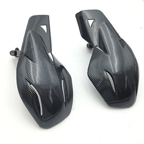 HK MOTO- Motorcycle Carbon Fiber Hard Plastic Reinforced Hand Guards 78 22mm For 78 handlebars Honda Yamaha Suzuki KTM Polaris ATV Snowmobile and motorcycles