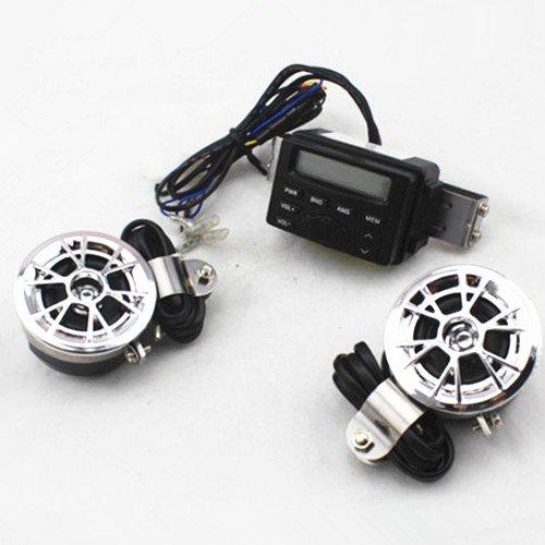 Motorcycle Audio System Handlebar MP3 FM Radio Stereo Amplifier 2 Speaker for Harley Honda Yamaha Suzuki Kawasaki Ktm Atv Ducati