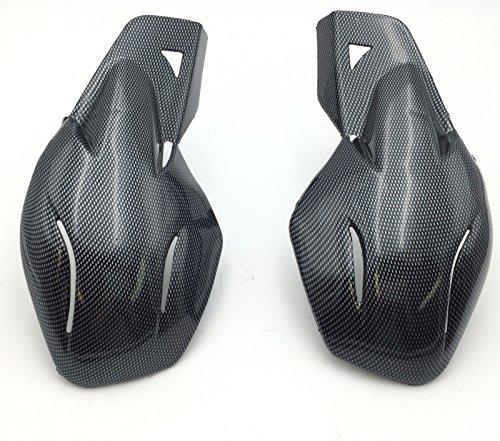 SMT Motorcycle Carbon Fiber Hard Plastic Reinforced Hand Guards 78 22mm For Snowmobile Polaris RMK Ski-Doo Sno Pro Vector Phaser Indy Honda Yamaha Suzuki KTM ATV
