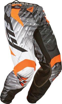 Fly Racing Kinetic Glitch Boys MotorcrossRoadDirt Bike Motorcycle Pants - BlackWhiteOrange  Size 22