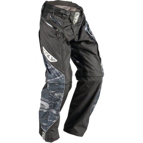 Fly Racing Patrol Boot-Cut Mens Off-RoadDirt Bike Motorcycle Pants - CamoBlackGrey  Size 28