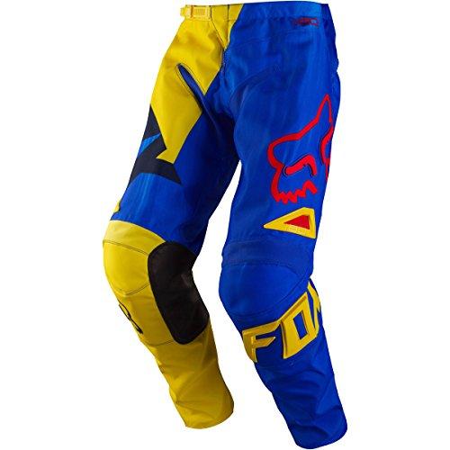 Fox Racing 180 Vandal Mens Dirt Bike Motorcycle Pants - YellowBlue  Size 38