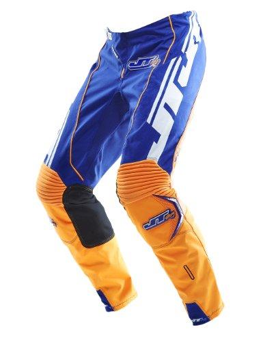 JT Racing USA Evolve Lite Dirt Bike MX Motocross Pants with Lazer Graphics BlueOrange Size 36