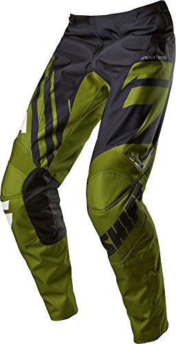 Shift Racing Assault Race Youth Boys Motox Motorcycle Pants - Black/green / Size 24