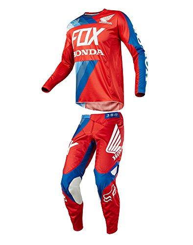 Fox Racing 2018 360 Honda Combo Jersey Pants Red Adult Mens ATV Dirtbike Offroad Motocross Riding Gear Red