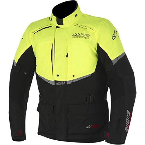 Alpinestars Andes Drystar Mens Street Motorcycle Jackets - BlackFluorescent Yellow  X-Large