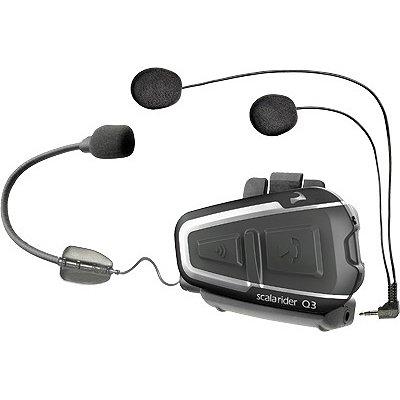 Cardo Systems Inc Q3 Bike To Bike Intercom With Fm Radio Scala Rider Communication Head Set Accessories - Black