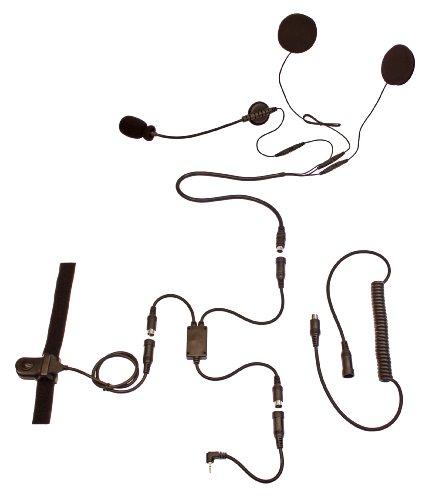 Motocomm Dirtwire Open-face (3/4 Style) Helmet Communication Headset Kit For Cobra Gmrs (cxt-235, Cxr725, Etc.